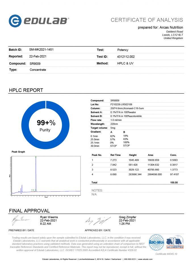 Certificate SR9009